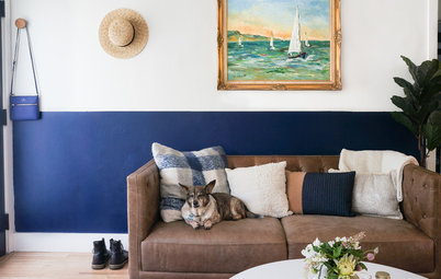 My Houzz: Minimal Meets Boho Style in 570 Square Feet