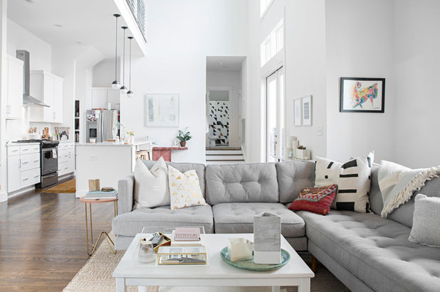 My Houzz Minimalist Style In A Bright And Airy Nashville Home Simple Austin Vintage Furniture Minimalist