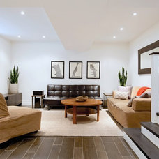 Contemporary Living Room by Andrew Snow Photography