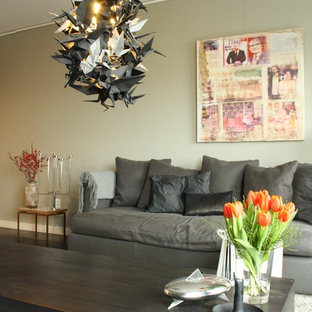Inspiration for an eclectic living room remodel in Amsterdam
