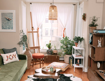My Houzz: Modern, Eclectic Style in a Washington, D.C., Rental