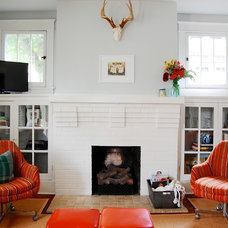Craftsman Living Room by Corynne Pless