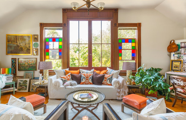 Eclectic Living Room By Carolyn Reyes