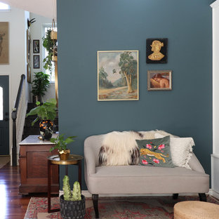 Eclectic living room photo in Austin
