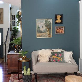 Foto di un soggiorno eclettico