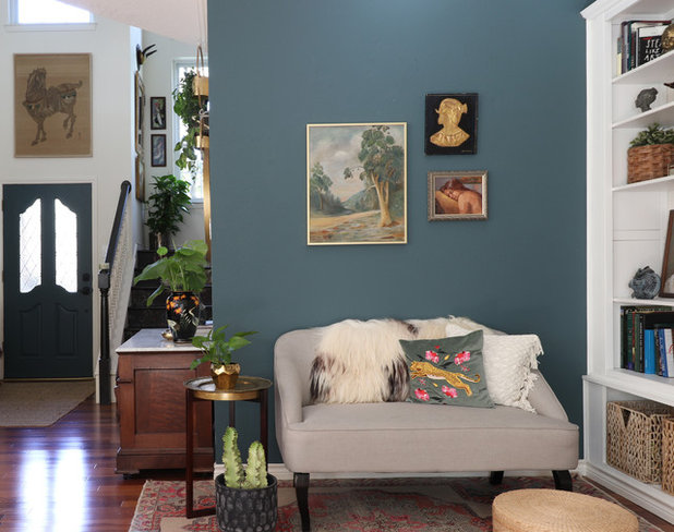 Eclectic Living Room by Kristin Laing