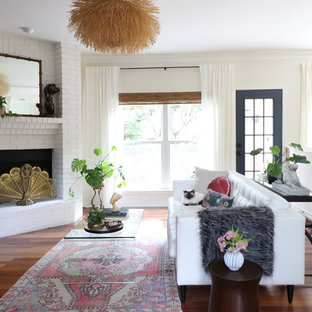 Inspiration for an eclectic living room remodel in Austin