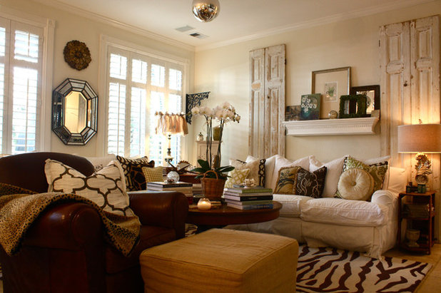Shabby-chic Style Living Room by Shannon Malone