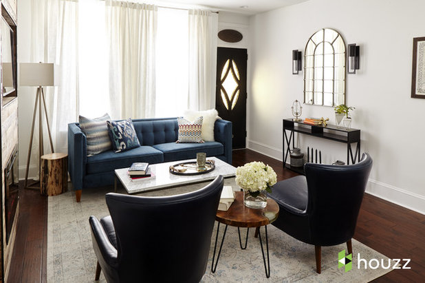 Transitional Living Room by Ferrarini & Co. Kitchens & Interiors