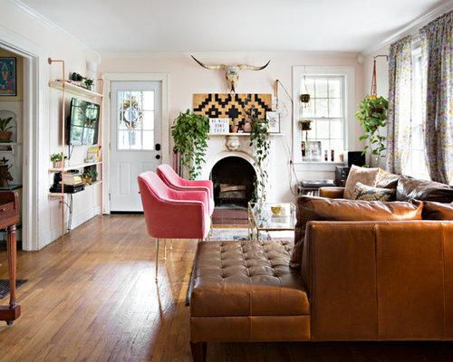 abgetrennte wohnzimmer mit rosa wandfarbe ideen design