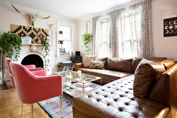 Eclectic Living Room by Caroline Sharpnack