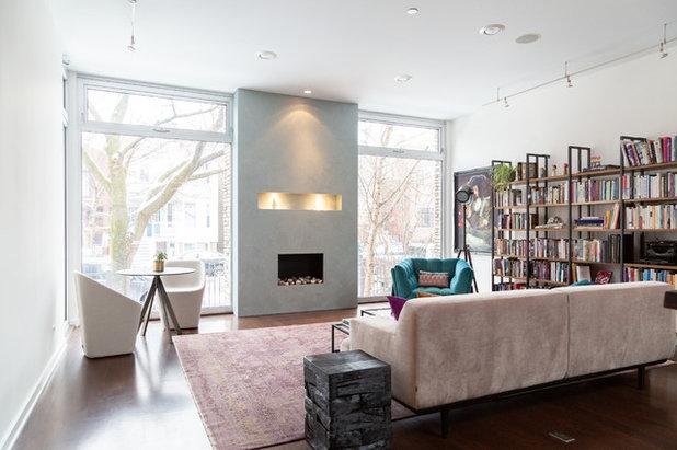 Eclectic Living Room by Rachel Loewen Photography