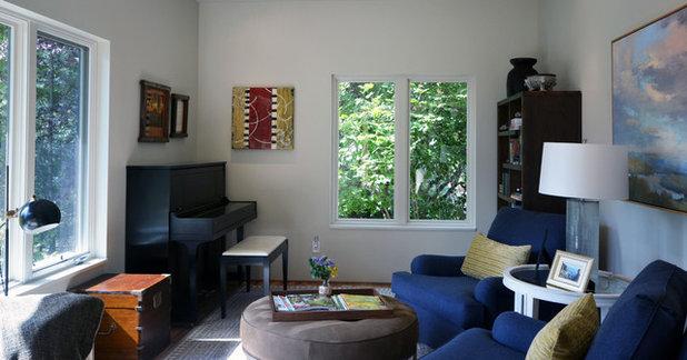 Eclectic Living Room by Robert Burns