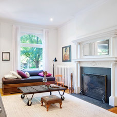 Transitional Living Room by Andrew Snow Photography
