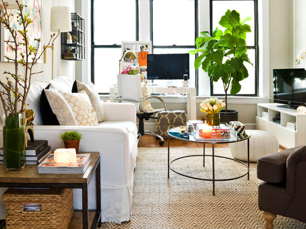 Eclectic Living Room My Houzz: Pretty Meets Practical in a 1920s Walk-Up