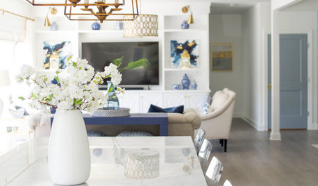 Soothing Blues and Whites in a Virginia New Build