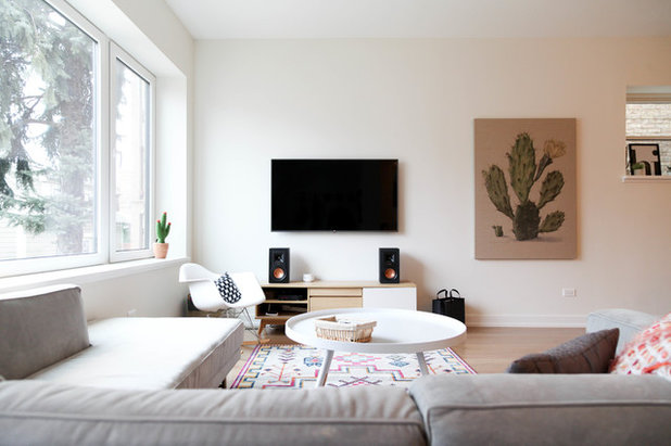 Scandinavian Living Room by Rachel Loewen Photography