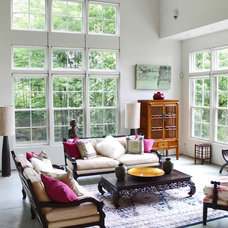 eclectic living room by Laura Garner