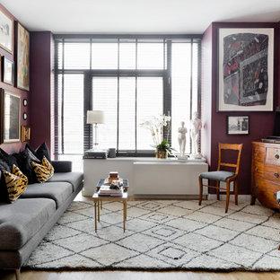 Bild på ett eklektiskt vardagsrum
