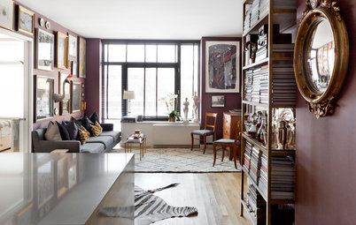 My Houzz: Rugs Define Living Spaces in a 750-Square-Foot Apartment