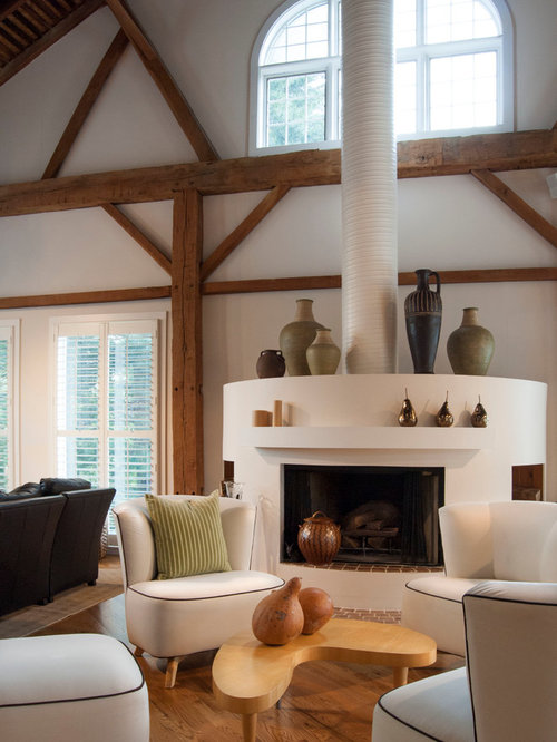 my houzz rustic meets refined in a converted ohio barn. Black Bedroom Furniture Sets. Home Design Ideas