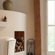 Farmhouse Living Room by Adrienne DeRosa