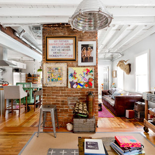 Inspiration for an eclectic living room remodel in Providence