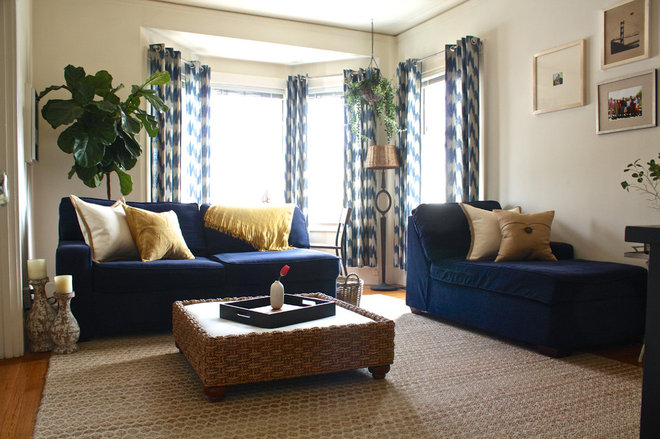 Transitional Living Room by Shannon Malone