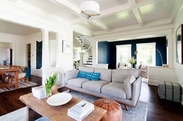My Houzz Soothing Blues And Organic Style In A 1912 Fixer Upper