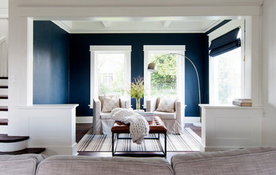 My Houzz: Soothing Blues and Organic Style in a 1912 Fixer-Upper
