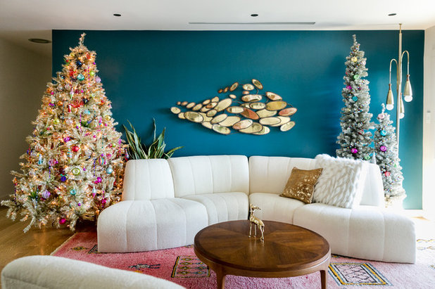 Contemporary Living Room by Jennifer M. Ramos