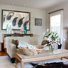 Beach Style Living Room by Shannon Malone