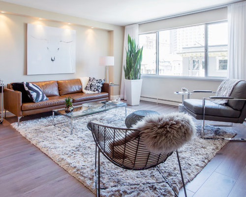 Photo Of A Contemporary Living Room In San Francisco.