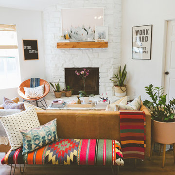 My Houzz: Sweet Pink Touches and Colorful Boho Style in Austin