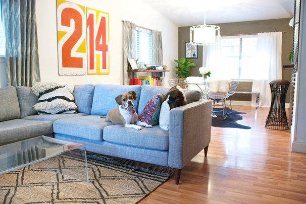 Contemporary Living Room by Hilary Walker