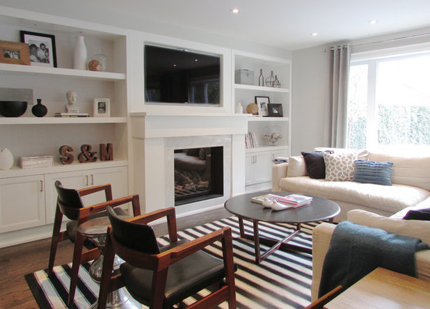 Fancy Contemporary Living Room by Jenn Hannotte Hannotte Interiors