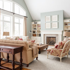 Transitional Living Room by Becki Peckham