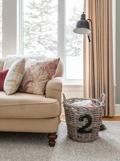 Transitional Living Room by Becki Peckham