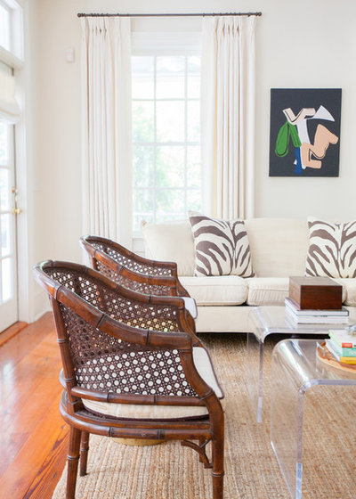 Tropical Living Room by Margaret Wright Photography