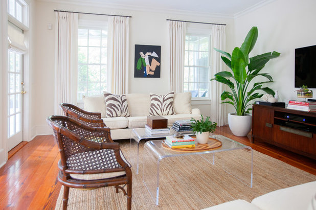 vintage style living room.  My Houzz Updated 1830 Charleston House With Chic Vintage Style