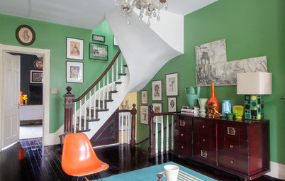 My Houzz: Vibrant Victorian Row House With Midcentury Style