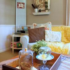 Farmhouse Living Room by Sara Bates