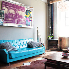 Industrial Living Room by Laura Garner