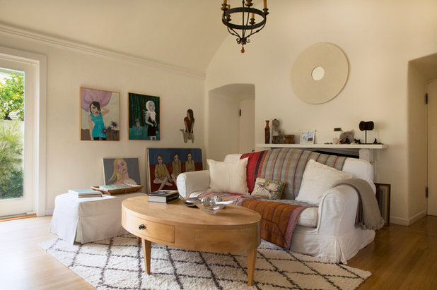 Eclectic Living Room by Margot Hartford Photography