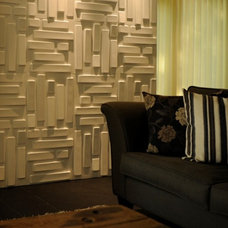 Contemporary Family Room by MyWallArt 3d wall panels