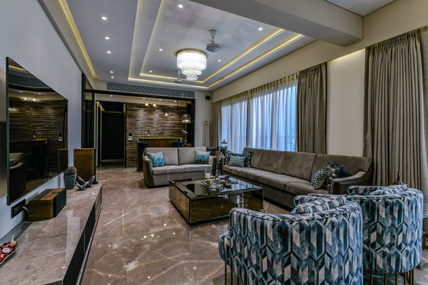 Contemporary Living Room by CTDC