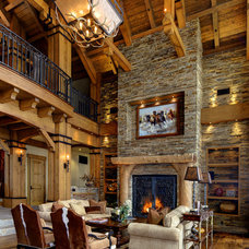 Rustic Living Room by Timeless Interiors