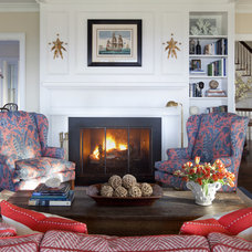 Traditional Living Room by Jeannie Balsam LLC