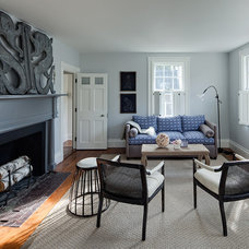 Transitional Living Room by Buckingham Interiors + Design LLC