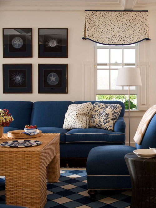 Inspiration For A Mid Sized Timeless Enclosed Carpeted Living Room Remodel  In Boston With White